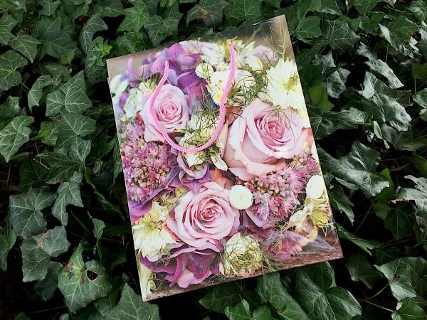 """Geschenk Tasche """"Rosen Motiv"""" (ca 23 x 18 x 8 cm)"""